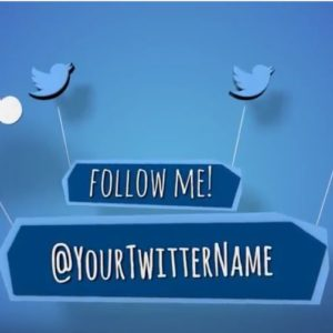 This outro is perfect for growing your Twitter followers and getting people to subscribe